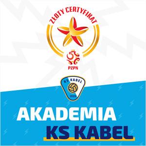Akademia piłkarska KS Kabel posiada Złoty Certyfikat PZPN.